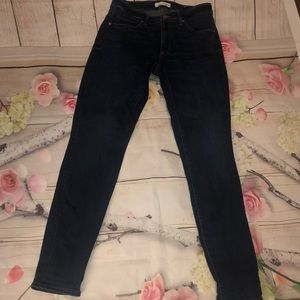 Loft Curvy Skinny Crop Jeans 26 2